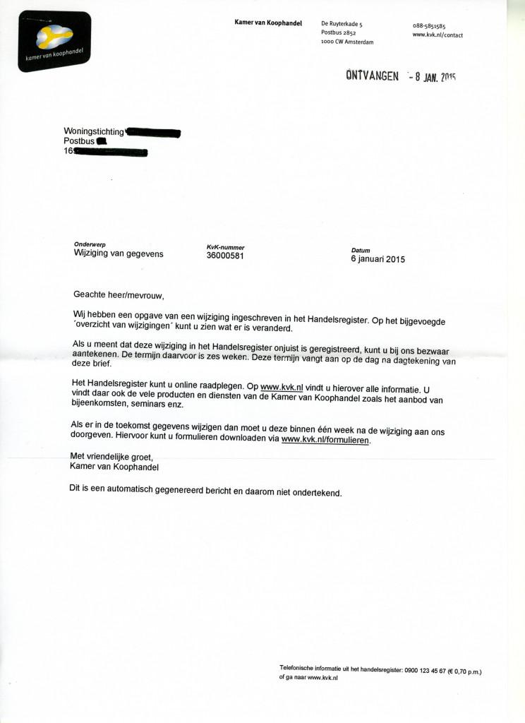 brief opstellen zakelijk Les 22: Voorbeeldbrief 10 KvK wijziging gegevens   Zakelijk Schrijven