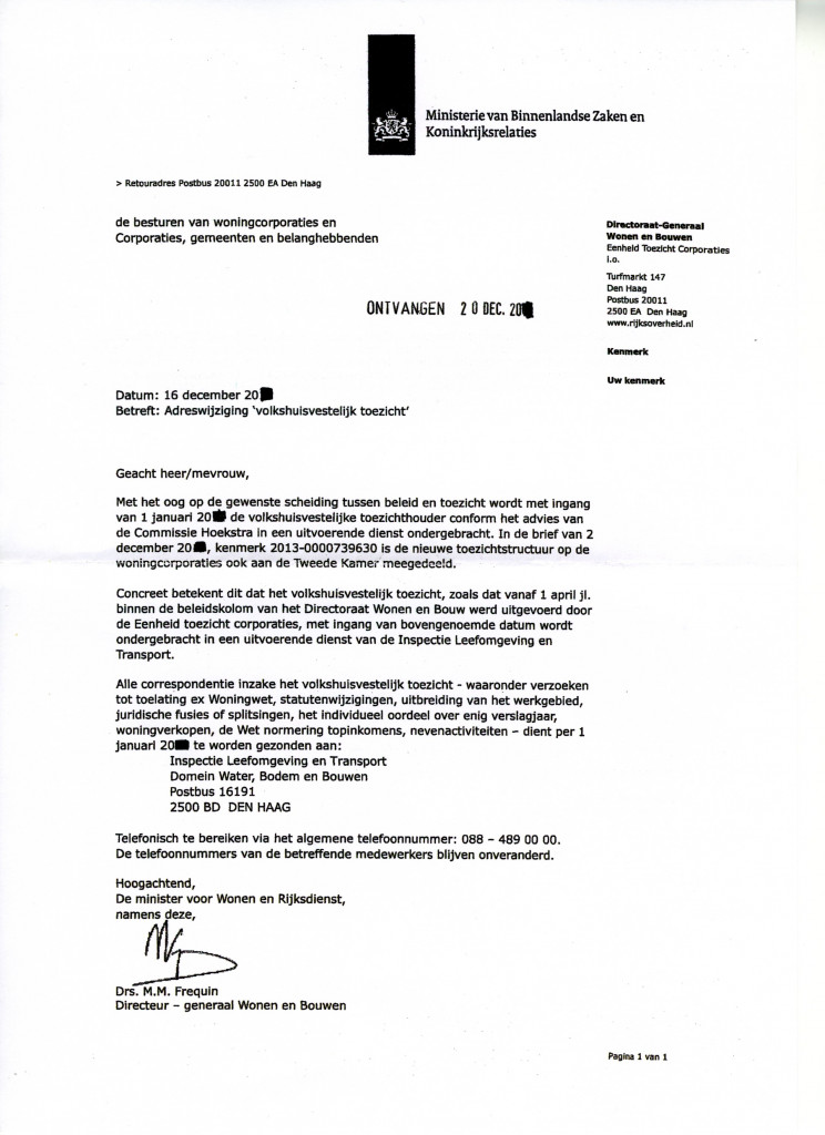 formele brief aanhef Les 20: Voorbeeldbrief 8 BZ verhuizing volkshuisvestelijk toezicht